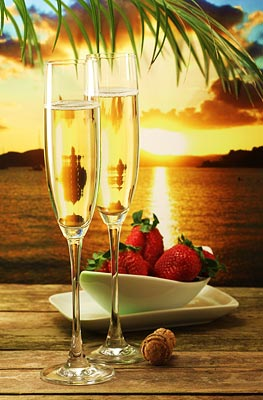 Champagne and Strawberries Amenity